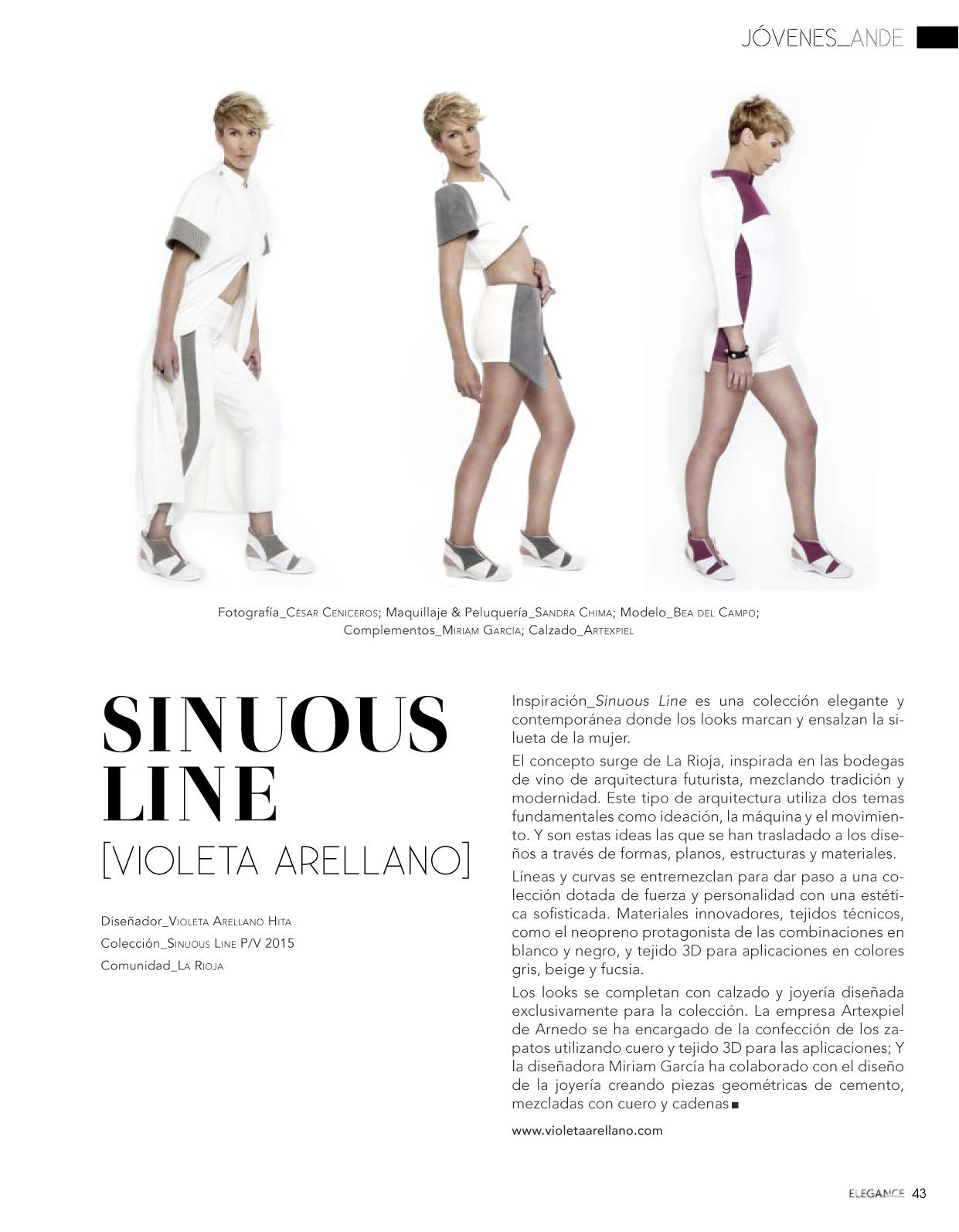Editorial colección 'SINUOUS LINE' en Revista Elegance Tendencias