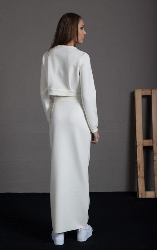 Crop Top y falda blanco