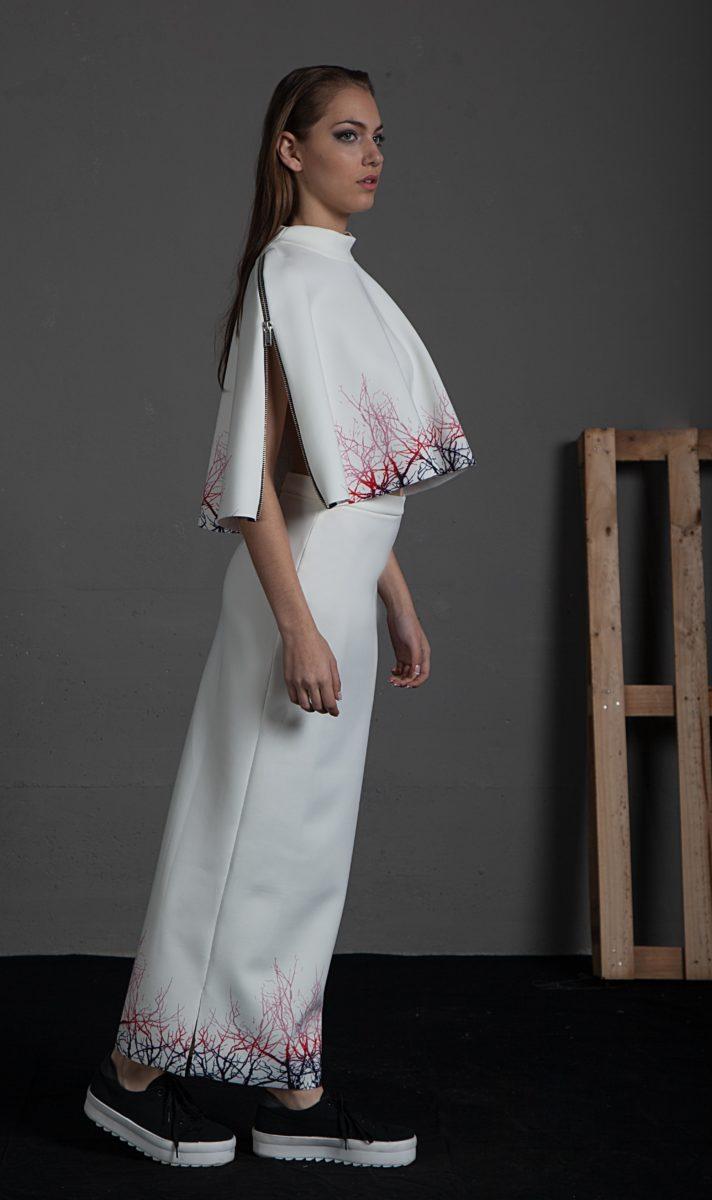 43a878ddcb Falda Idia Degradado Ramas - Violeta Arellano Fashion Designer