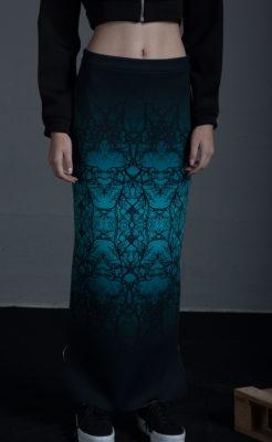 Falda larga de tubo estamapda