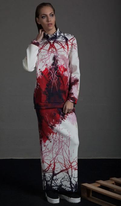 Falda de tubo estampada