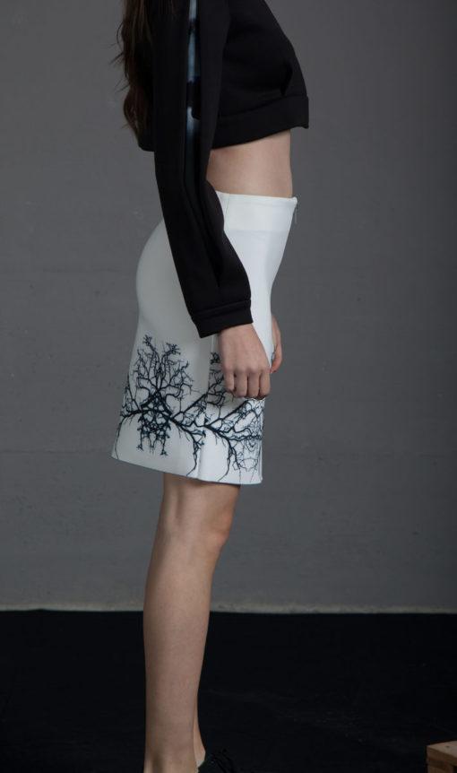 Falda corta cremallera
