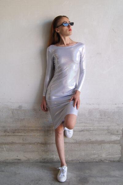 Vestido iridiscente